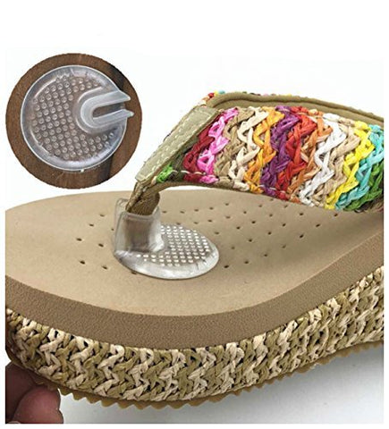 Silicone Thong Sandal Toe Protectors-Silipos Sandal Flip-Flop Gel Toe Guards Cushions Thong Protectors Set Of 5 Pair