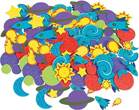 1000 Foam Outer Space Self Adhesive Shapes/Planets/Solar System/Arts &Amp; Crafts Activity/Scrapbooking Supplies/Stickers