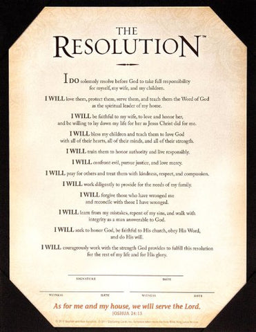 The Resolution - Print [Courageous] (8 X 10)