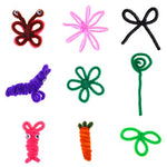 Bememo 200 Pieces Pipe Cleaners Chenille Stems 6 Mm X 12 Inch For Diy Art Craft, Assorted Colors