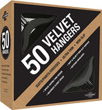 Closet Complete Premium Heavyweight, Velvet Suit Hangers  Ultra-Thin, Space Saving, No-Slip, Best For Dresses, Suits & Shirts - Black, Set Of 50