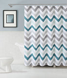 Goodgram Chevron Cotton Fabric Shower Curtain - Assorted Colors (Aqua)