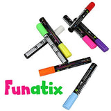 Liquid Chalk Board Window Markers - Erasable Pens Great For Chalkboards - Non Toxic Safe & Easy To Use Neon Bright & Vibrant Colors For All Ages Funatix