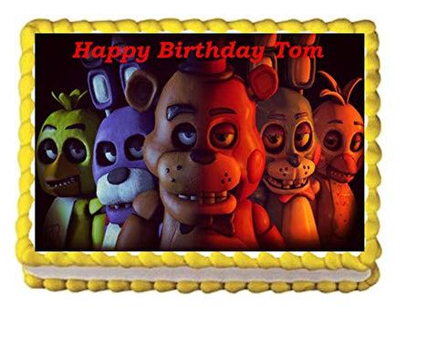Five Nights At Freddys Edible Cake Image Topper 1/4 Sheet Decoration Birthday Party