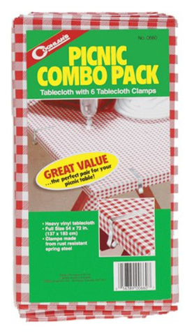 Coghlan'S Picnic Combo Pack With Tablecloth And Clamps