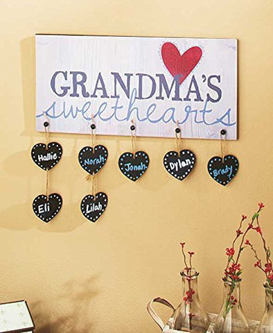 Grandma'S Or Nana'S Sweethearts Plaques ( Nana Sweethearts Plaque )