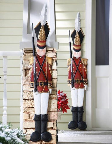 Metal Holiday Tin Soldier Wall Decoration, Multi