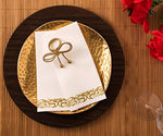 Bloomingoods Decorative Hand Towels, Paper Napkins / Disposable Linen-Feel Guest Towels, Gold - Floral