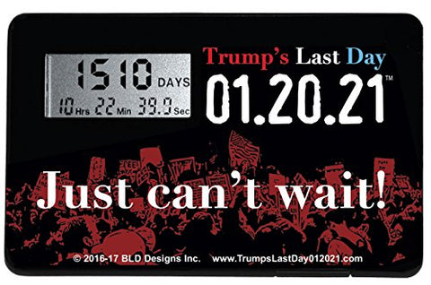 Trump'S Last Day 01.20.21 Countdown Clock (1 Clock)