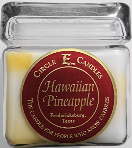 28Oz Circle E Candles Hawaiian Pineapple. An Exotic Blend Of Ripe Pineapples And Other Exotic Fruits For A Flavorful Fruity Smell!
