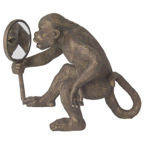 Import Collection Monkey With Mirror Statue