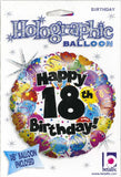 Betallic 18Th Birthday Party Holo Balloon Package, 18, Multicolor