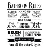 Dnven (18 W X 22 H) Bathroom Rules Lather Repeat Hand Up Your Towel Decals Bathroom Words Letters Quotes Wall Arts Glass