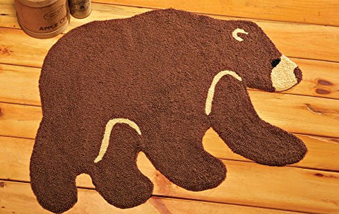 Northwoods Woodland Bear Shaped Indoor Accent Rug