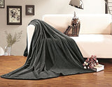 Elegant Comfort Micro-Fleece Ultra Plush Luxury Solid Blanket, King/California King, Gray