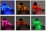 6 Pairs Led Nylon Shoelaces Light Up Shoe Laces With 3 Modes In 6 Colors Disco Flash Lighting The Night For Party Hip-Hop Dancing Cycling Hiking Skating