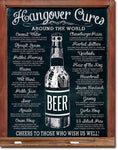Hangover Cures Tin Sign 13 X 16In