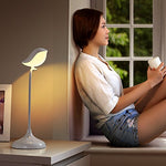 Mamre Songbird Adjustable Desk Lamp With Wireless Bluetooth Speaker, Bed Lamp For Kids (Warm White Led Light)