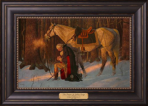 The Prayer At Valley Forge - Arnold Friberg - Gift Edition - Framed Textured Lithograph