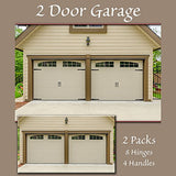 Household Essentials 240 Hinge It Magnetic Decorative Garage Door Accents - Black
