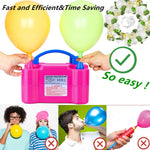 Balloon Pump, Portable Dual Nozzle Ballon Inflator Pump For Balloons 110V 600W Electric Air Pump Blower, Balloon Arch Kit &Balloon Garland Kit, Balloons For Parties/Birthday Balloons Set (Large)