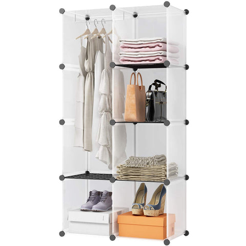 "Kousi 14""X14"" Cube Shelves Cubes Cloths Racks Cube Organizer Metal Storage Shelves Modular Storage Cubes 8 Cubes"