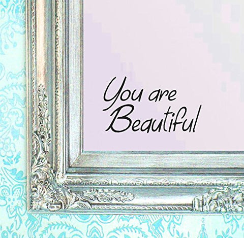 Berryzilla You Are Beautiful Decal 8  X 4.75  Motivational Quote Wall Sticker For Mirror, Windows Or Walls Decoration Decor Stickerciti Brand