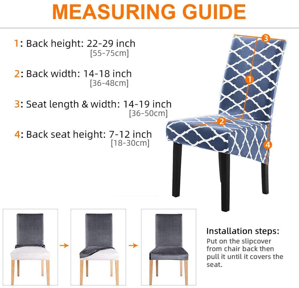Stretch Dining Chair Slipcovers, Xl/Oversized Removable Washable