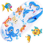 Non Slip Kids Bath Mats For Shower And Tub,With Many Suction Cups,Mildew Resistant,Natural Pvc,Cute Design Bathtub Mat For Kids (Octopus)
