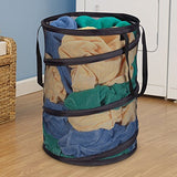 Household Essentials Pop-Up Collapsible Mesh Laundry Hamper, Black