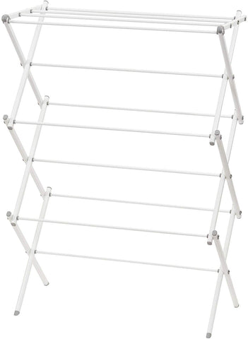 Household Essentials 5119-1 Indoor Metal Clothes Drying Rack For Laundry | White