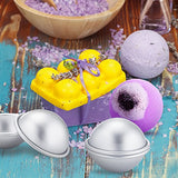 Caydo 3 Sets Of Metal Diy Bath Bomb Mold 2.37 Inch For Crafting Your Own Fizzles