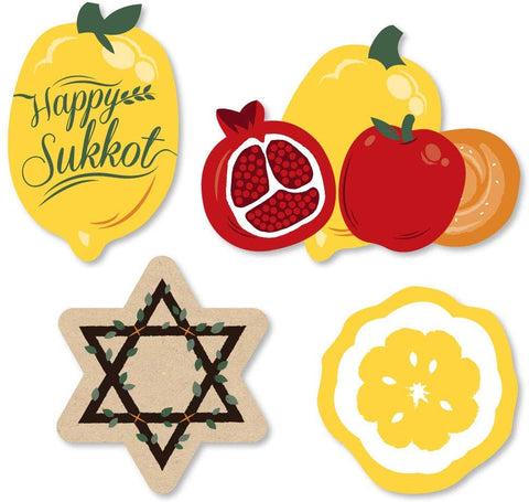 Big Dot Of Happiness Sukkot - Diy Shaped Sukkah Jewish Holiday Cut-Outs - 24 Count