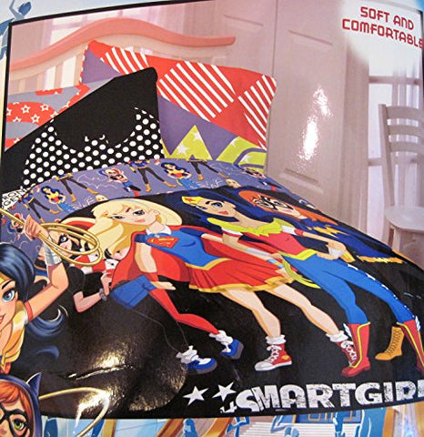 Dc Super Hero Girls Twin/Single Comforter - Harley Quinn, Bat Girl, Super Girl, & Wonder Woman