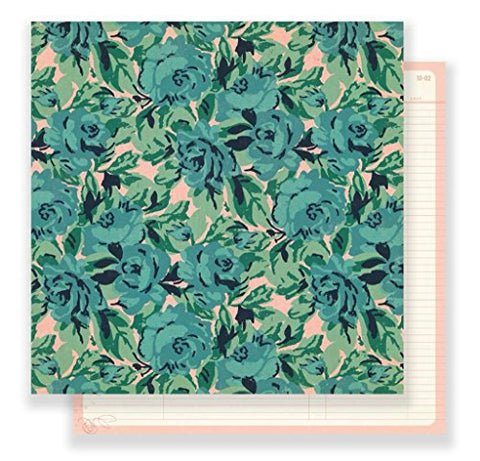 Maggie Holmes Flourish Patterned 12 X 12 Paper Rose Garden , Piece