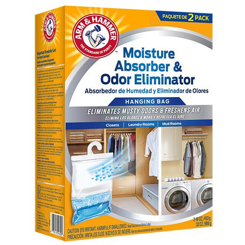 Arm & Hammer Fgah32 32 Moisture Absorber & Max Odor Eliminator Hanging Bag , 16 Oz