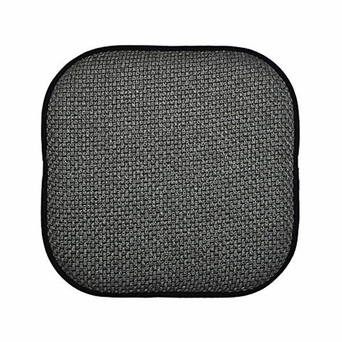 Black And Gray Memory Foam Chair Pad/Seat Cushion With Non-Slip Backing 16X16 (Gray)