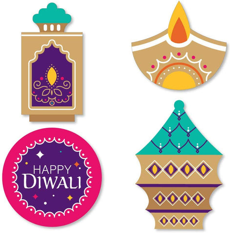 Big Dot Of Happiness Happy Diwali - Diy Shaped Festival Of Lights Party Cut-Outs - 24 Count