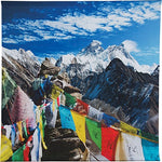 Luna Bazaar Mount Everest Nepal Photo Tapestry And Hanging Wall Art (Extra Large, 4.8 X 4.8 Feet, 100% Cotton)