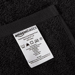 Amazonbasics Fade-Resistant Cotton 6-Piece Towel Set, Black