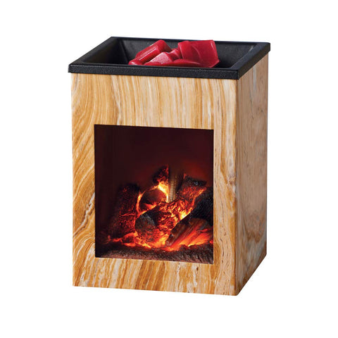 Unique Fireplace Electric Wax Warmer - Diffuses Favorite Scent And Displays Realistic Fire Burning