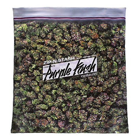 Purple Kush Stash - Baggie Of Cannabis Weed Pillowcase