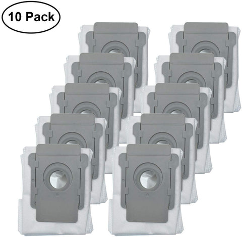 Lemige 10 Packs Vacuum Bags Compatible With Irobot Roomba I7 I7+/Plus S9+ (9550) Clean Base Automatic Dirt Disposal Bags
