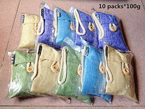 10 Packs The Home/ Car In Addition To Taste/ Air Purifying Bamboo Charcoal Bag(10 Packs*100G)