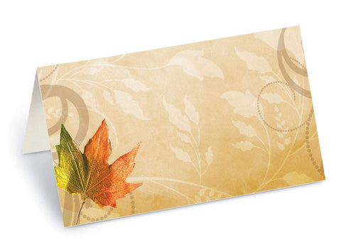 Paperdirect Brilliant Fall Maple Leaf Folded Place Cards, 100 Count