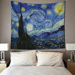 Haocoo Starry Sky Pattern Wall Hanging Tapestry For Bedroom / Living Room / Dorm Accessories (51 X 60 Inch, Starry Night)