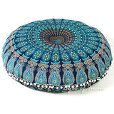 Eyes Of India - 32 Blue Mandala Floor Pillow Cushion Seating Throw Cover Hippie Decorative Bohe