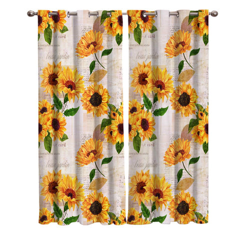 Elegant Curtain By Sunflower With Newspaper Background Window 80 W 84 L 2 Panels For Sliding Glass Door Patio Bedroom Living Room T H Home Draperies Curtains Set