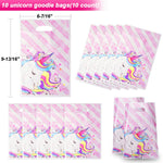 Pawliss 114 Pcs Unicorn Party Favors Supplies, Stampers, Stickers, Hair Clips, Goodie Bags, Slap Bracelets, Keychains Kids Girls Birthday Novel Rainbow Gifts Decorations Toys