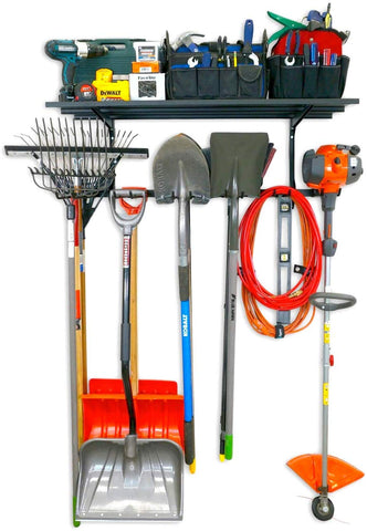Storeyourboard Omni Tool Rack And Storage Shelf, Home And Garage Organizer, Adjustable Wall Hanger System